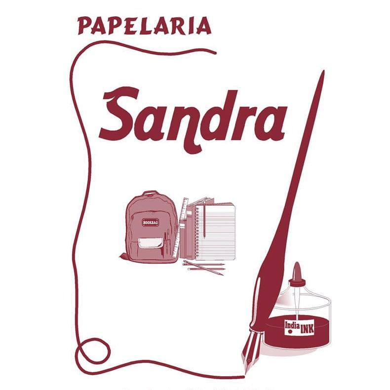 logotipo da Papelaria Sandra